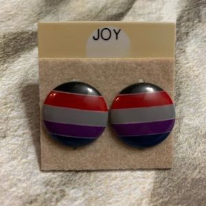 3 for $15 Vintage 90's Round Striped Earrings